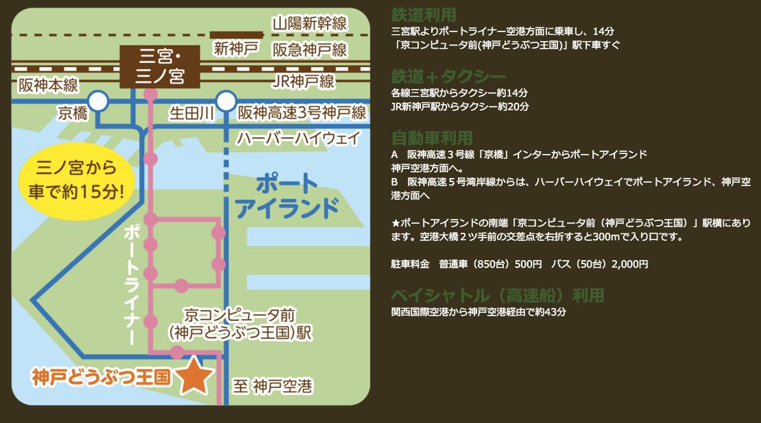 神戸どうぶつ王国 アクセスpng-min