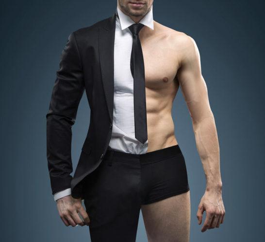 スーツ筋肉
