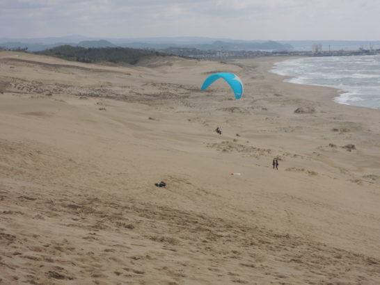 砂丘海岸側